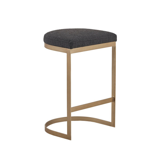 Maison Charcoal/Antique Gold Counter Stool (Maison Charcoal/Antique Gold-Counter Stool )