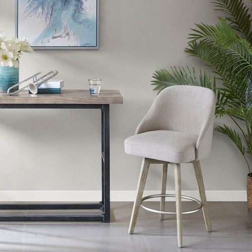 Pearce Grey Counter Stool With Swivel Seat (Pearce Grey-Counter Stool With Swivel Seat)