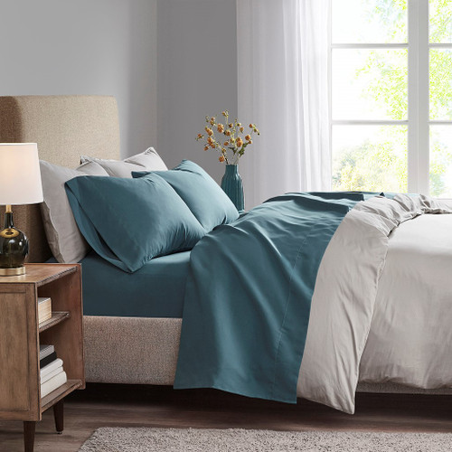 Teal Blue 3M Microcell Year Round Moisture Wicking Lightweight Sheet Set (3M Microcell-Teal-Sheets)
