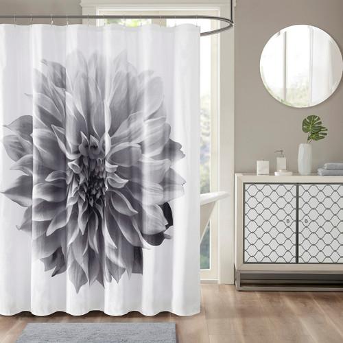 "Stylish Grey 200TC Cotton Percale Shower Curtain - 72x72"" (086569569097"