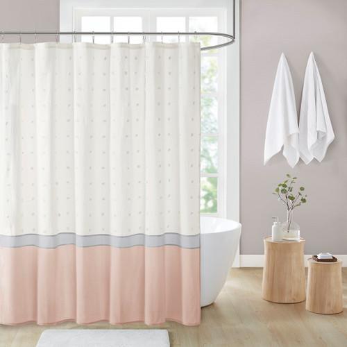 "Stylish Blush Fabric Cotton Jacquard Shower Curtain - 72x72"" (086569518835)"