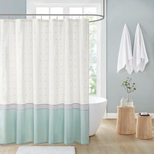 "Stylish Seafoam Fabric Cotton Jacquard Shower Curtain - 72x72"" (086569518842)"