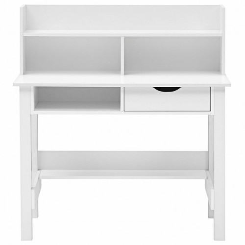 Home Office Computer Desk w/Storage Shelves & Drawer Ideal for Working & Studying