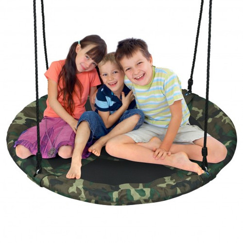 """40"""" Flying Saucer Tree Swing Outdoor Play Set w/Adjustable Ropes Gi' for Children"""