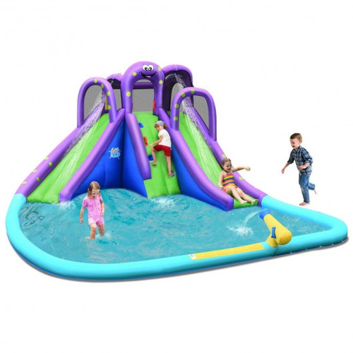 Inflatable Water & Sand Park Mighty Bounce House w/Large Pool