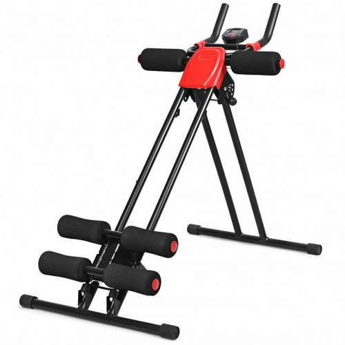 Abdominal Workout Equipment w/LCD Monitor for Home Gym