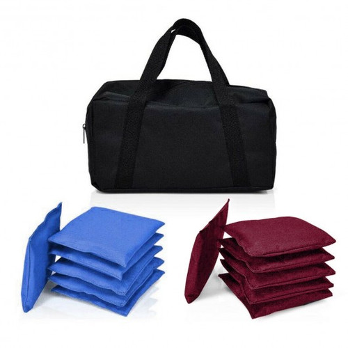 Set of 12 Blue & Red Weather Resistant Cornhole Bags