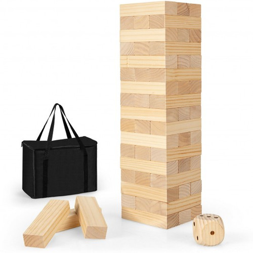 54pc Giant Wooden Tumbling Timber Toy w/Carrying Bag