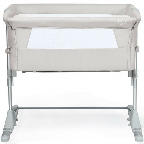Travel Portable Baby Bed Side Sleeper  Bassinet Crib w/Carrying Bag-Beige