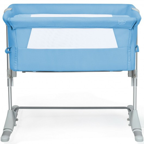 Travel Portable Baby Bed Side Sleeper  Bassinet Crib w/Carrying Bag-Blue