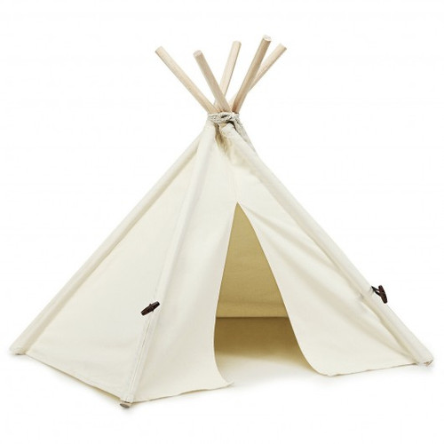Indoor Pet Teepee Dog Puppy Cat Bed Portable Pet Canvas Tent & House