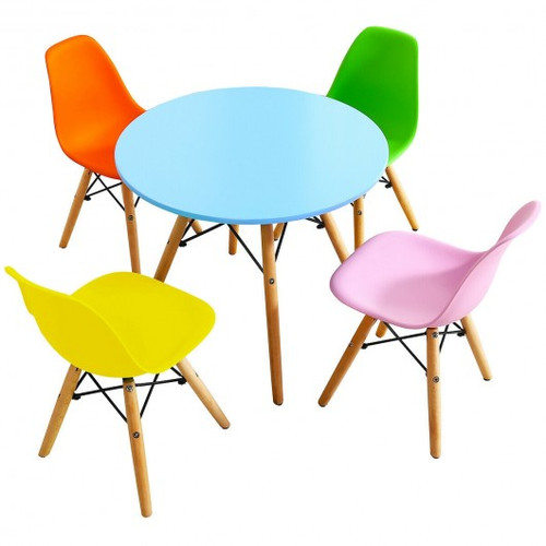 5 Piece Children Colorful Set w/4 Armless Chairs