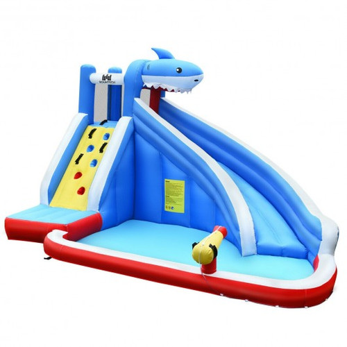 Inflatable Water Slide Shark Bounce House Castle w/o Blower