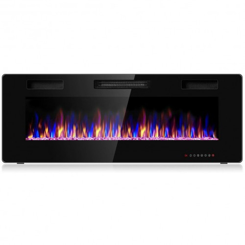 50 inch Recessed Ultra Thin Wall Mounted  Electric Fireplace w/Timer