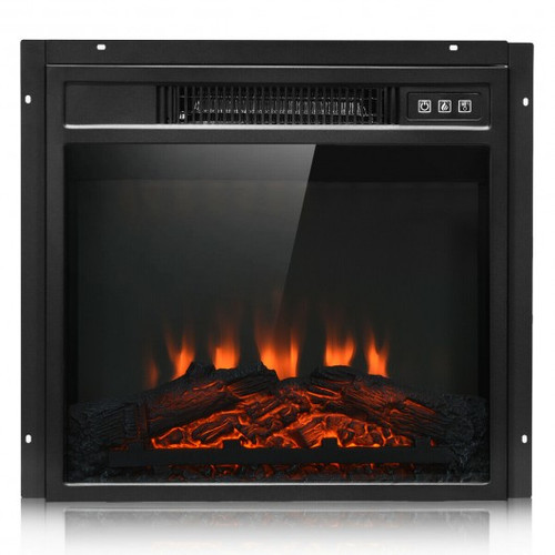 """18"""" Electric Fireplace Freestanding Wall-Mounted Heater w/Adjustable LED Flame"""