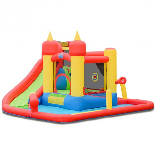 Inflatable Water Slide Jumper Bounce House w/Ocean Ball