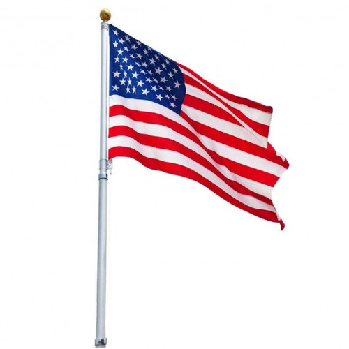 16 ' Sectional Telescoping Flagpole Kit w/an American Flag