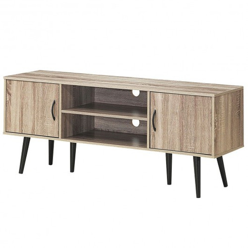 TV Stand w/2 Storage Cabinets & 2 Open Shelves