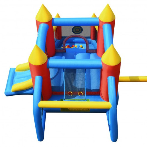 Inflatable Soccer Goal Ball Pit Bounce House w/o Blower