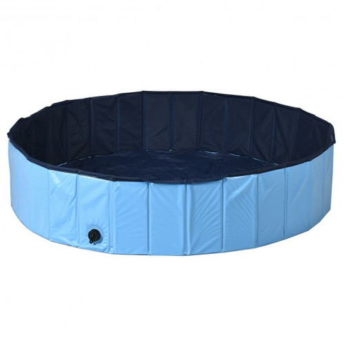"""55"""" Faux Outdoor Foldable Pet & Children Swimming Pool-Blue"""