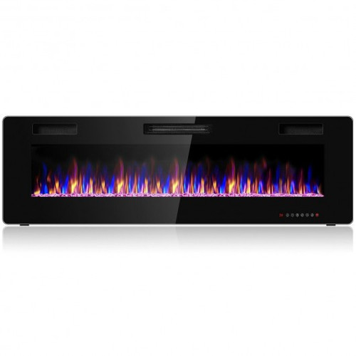 """60"""" Recessed Ultra Thin Mounted Wall Electric Fireplace"""