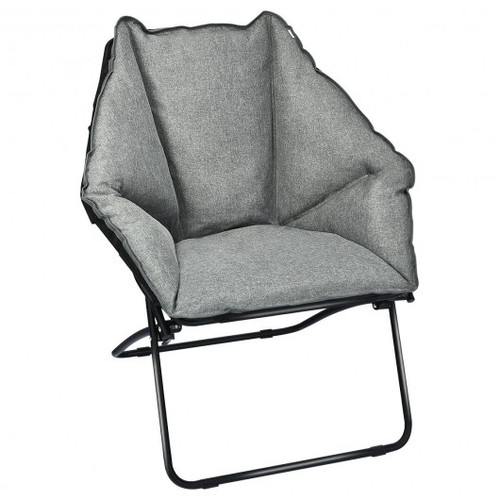 Folding Saucer Padded Chair So' Wide Seat
