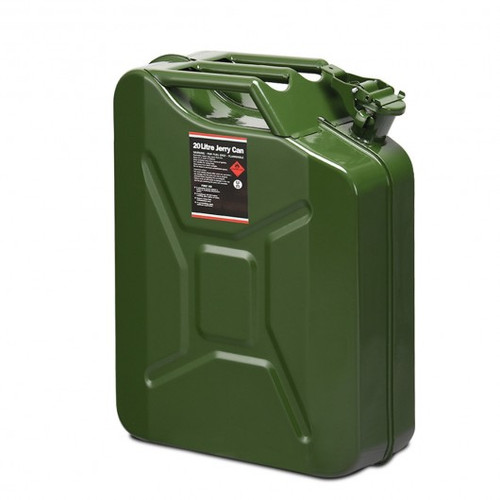5 Gallon Steel Gas 20 L Jerry Fuel Can-Green
