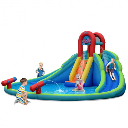 Children's Inflatable Water Slide Bounce House w/Carry Bag