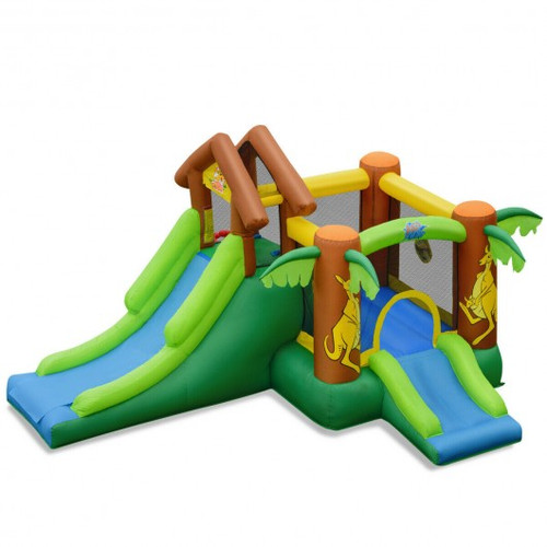 Children's Inflatable Jungle Bounce House Castle including Bag w/o blower