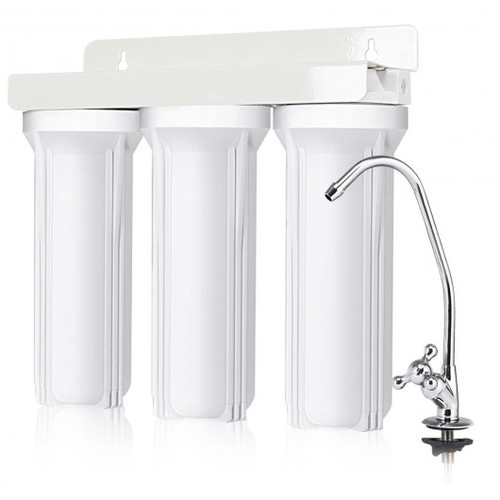 3-Stage Under-Sink Water Filter System w/Chromed Faucet