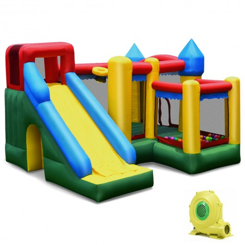 Mighty Inflatable Bounce House Castle Jumper Moonwalk w/Blower