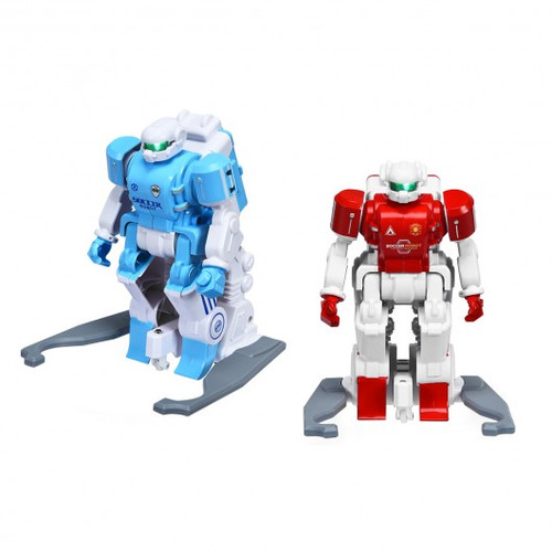 2pc Remote Control Rechargeable Battery Soccer Robots
