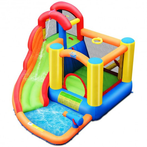 Kid Inflatable Bounce House Water Slide Castle w/Blower