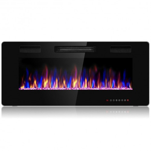 """42"""" Recessed Ultra Thin Wall Mounted Electric Fireplace w/ETL Certificated"""