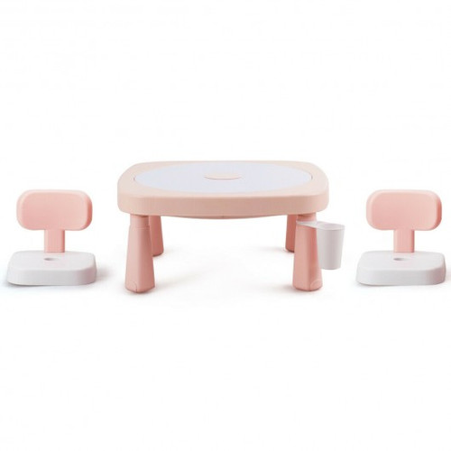 AR Function Children Game Table & Chair Set-Pink