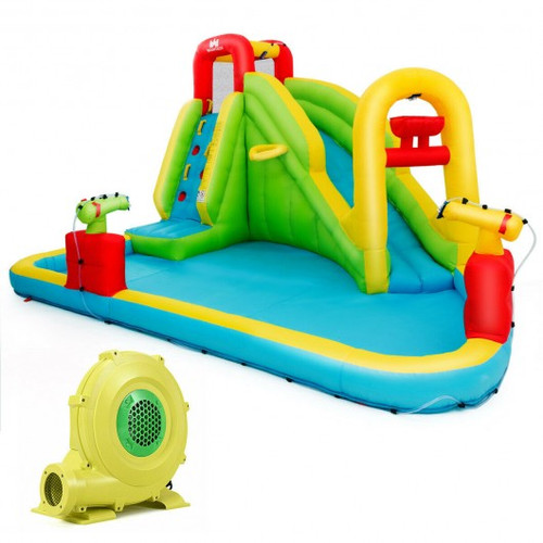 Outdoor Inflatable Water Bounce House w/480W Blower