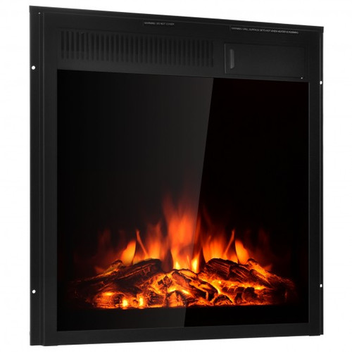 """22.5"""" Electric Fireplace Insert Freestanding & Recessed Heater"""