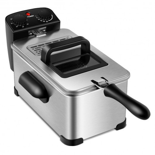 3.2 Quart Electric Stainless Steel Deep Fryer w/Timer