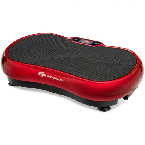 3D Vibration Plate Fitness Machine w/Remote Control Bluetooth Loop-Red