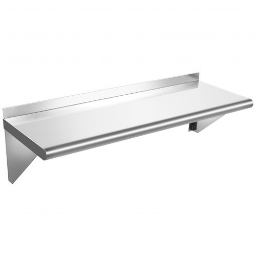 """12""""x24"""" Stainless Steel Commercial Wall Mount Shelf for Kitchen & Restaurant"""
