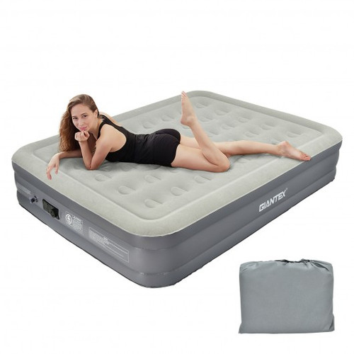 Portable Inflation Air Bed Mattress w/Built-in Pump