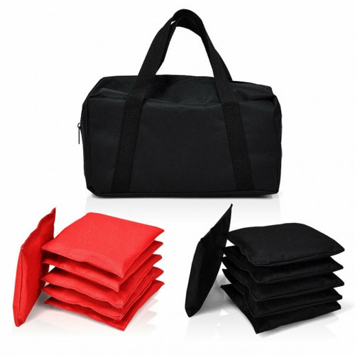 12 Beanbag Black & Red Weather Resistant Bags