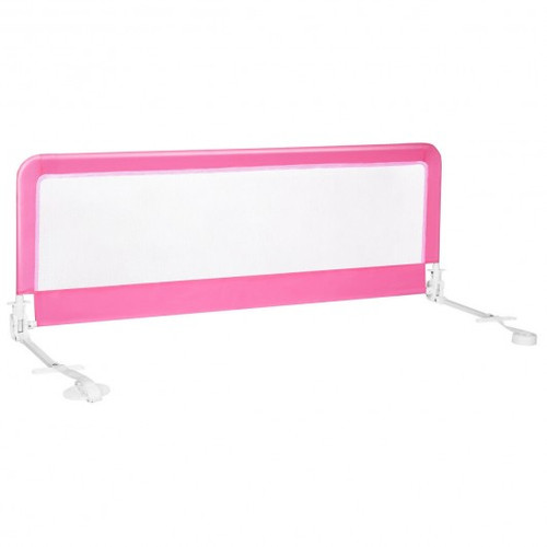 """59"""" Extra Long Folding Breathable Baby Children Toddlers Bed Rail Guard w/Safety Strap-Pink"""