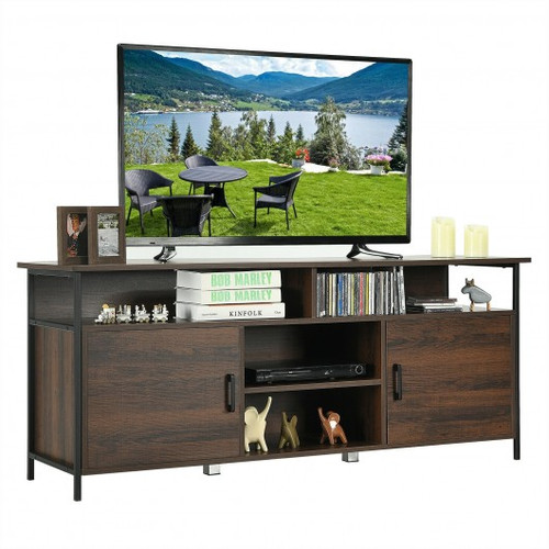 """58"""" Wood TV Stand Entertainment Media Center Console w/Storage Cabinet"""