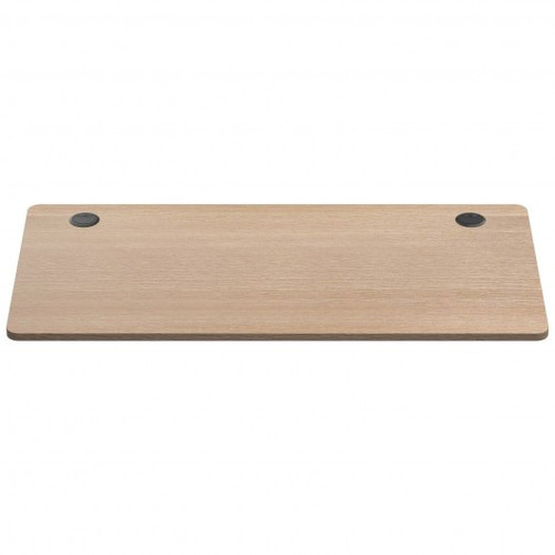 Universal Table Top for Office Relevance Desktop w/2 Cable Holes-Natural