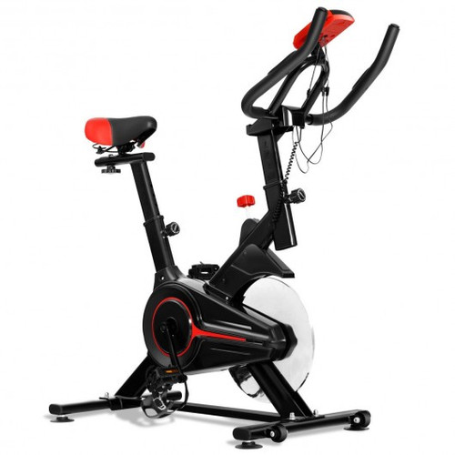 Professional Stationary Indoor Exercise Cycling Bike w/Heart Rate Sensors & LCD Display