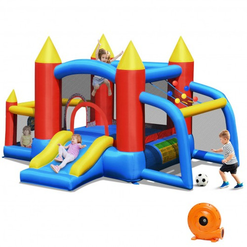 Kid Inflatable Slide Jumping Castle Bounce House w/740w Blower