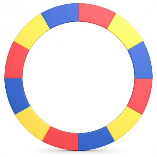16' Trampoline Replacement Safety Pad-Multicolor