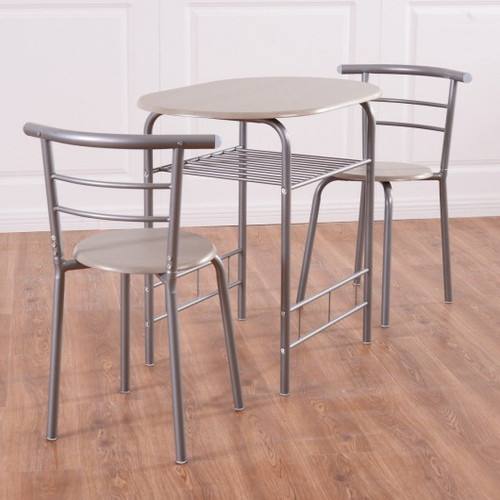3pc Home Kitchen Bistro Pub Dining Table 2 Chairs Set
