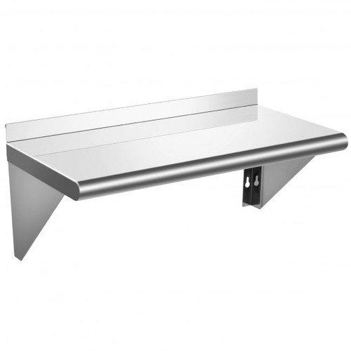 """12""""x36"""" Stainless Steel Commercial Wall Mount Shelf for Kitchen & Restaurant"""